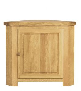 Charltons Bretagne Solid Oak Corner display Base Unit